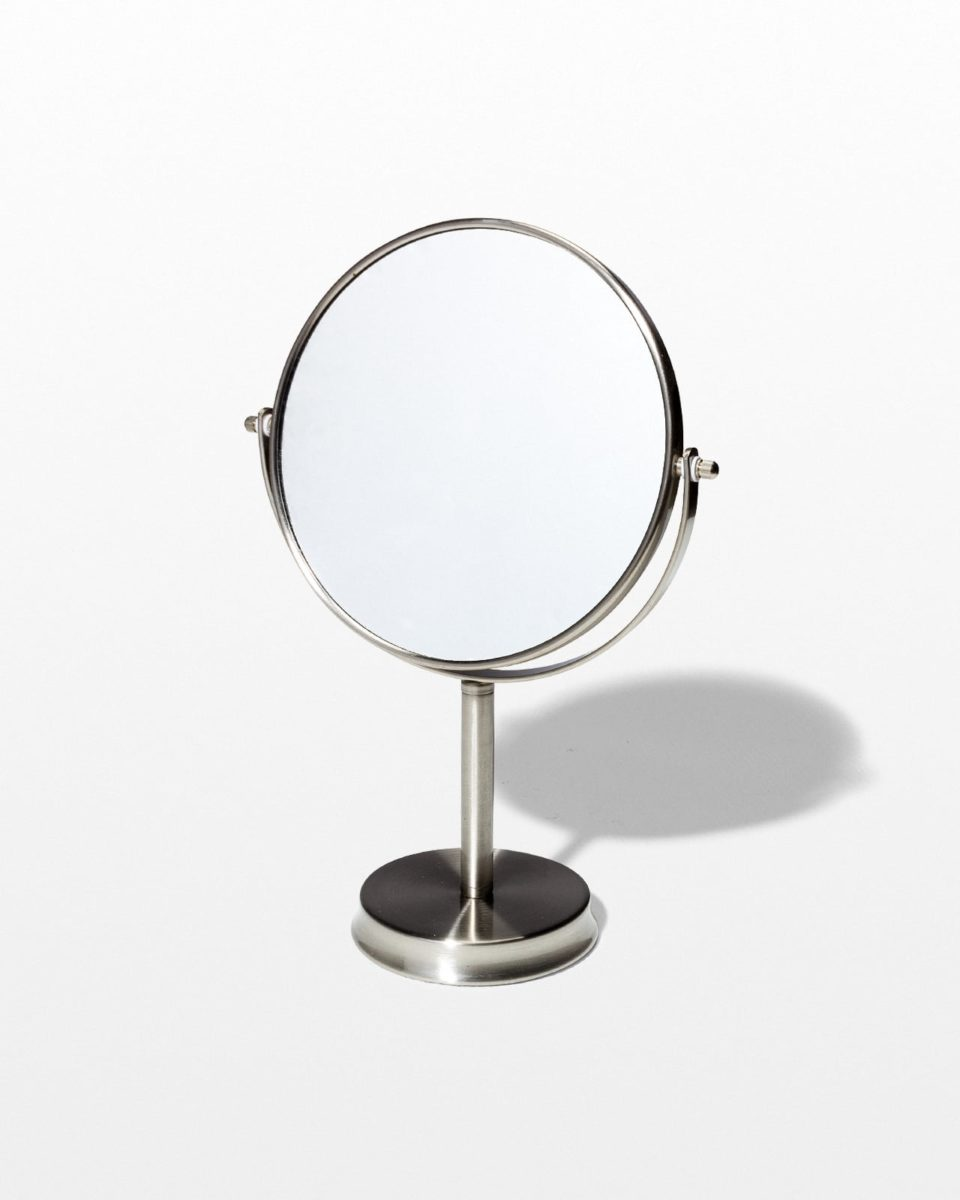 Front view of Buff Table Mirror