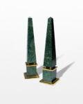 Front view thumbnail of Joba Green Marble Obelisk Pair