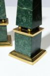 Alternate view thumbnail 1 of Joba Green Marble Obelisk Pair