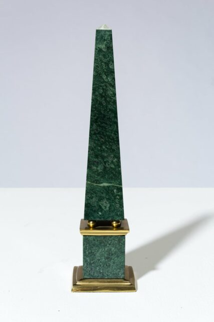 Alternate view 2 of Joba Green Marble Obelisk Pair
