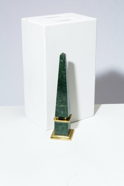 Alternate view 3 of Joba Green Marble Obelisk Pair