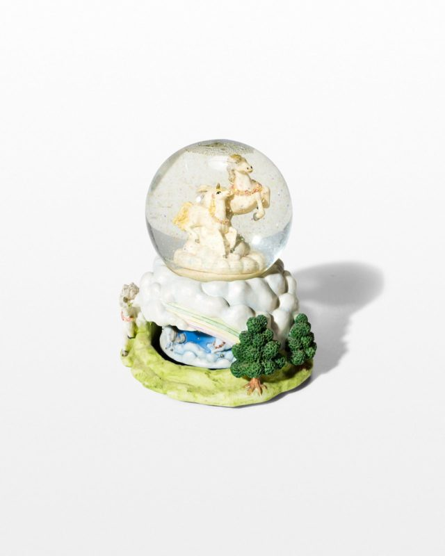 Front view of Fantasy Unicorn Snowglobe