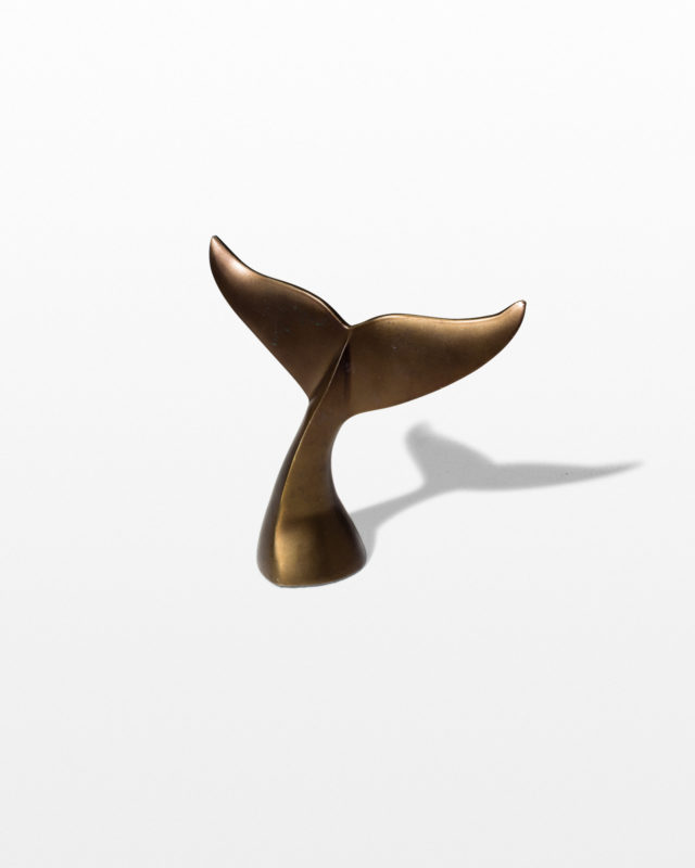 Front view of Whale Tail Decorative Object