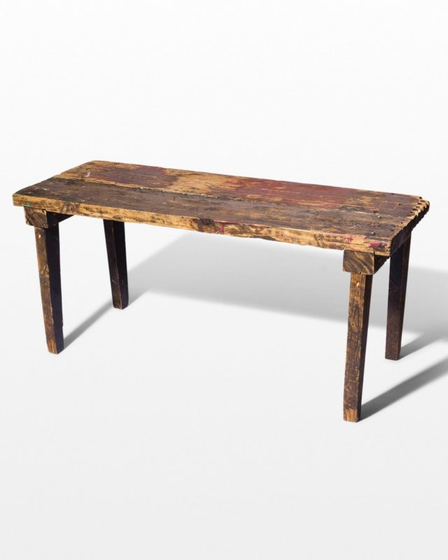 Front view of Wood Farm Table