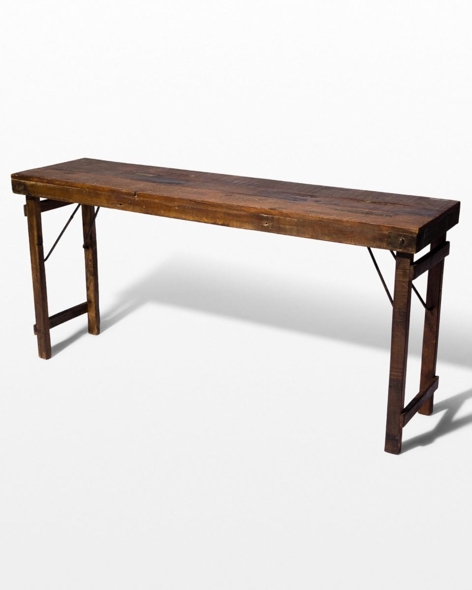 Front view of Calgary Wooden Folding Table