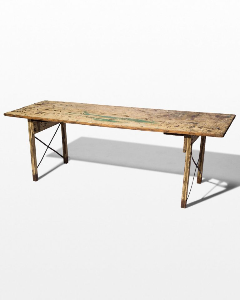Front view of Halifax Folding Wooden Table