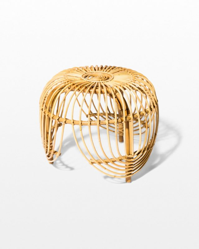 Front view of Souk Rattan Side Table