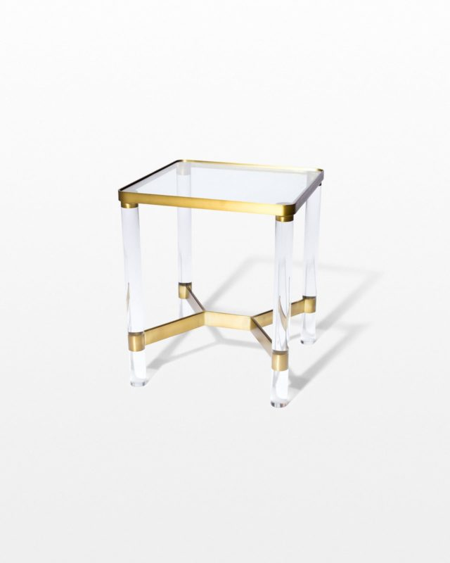 Front view of Topaz Acrylic and Glass End Table
