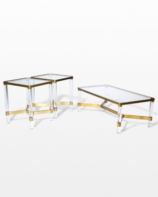 Front view of Topaz Acrylic and Glass Table Set