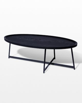 Front view of Alder Oval Coffee Table