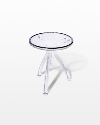 Front view of Peek Acrylic Accent Table