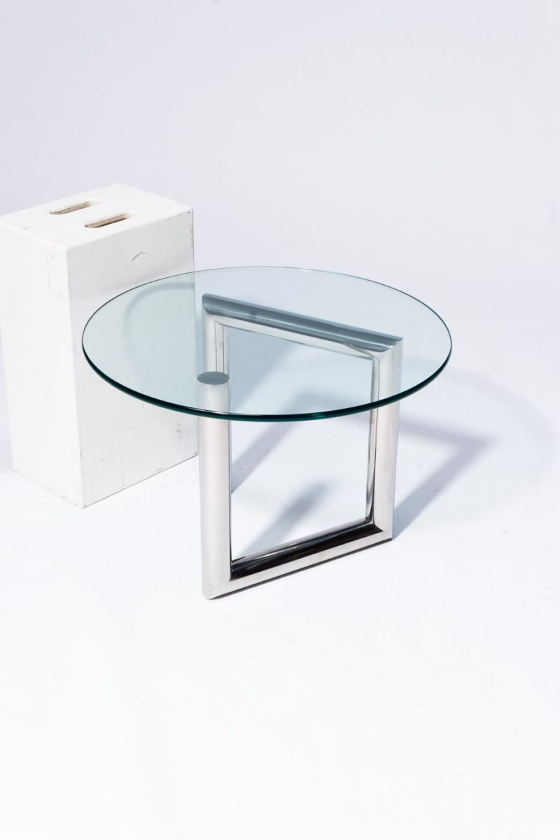 Alternate view 2 of Abra Glass and Chrome Side Table
