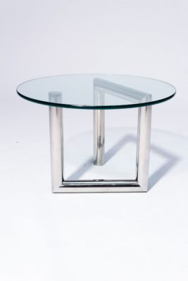 Alternate view 3 of Abra Glass and Chrome Side Table