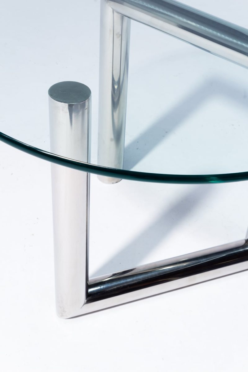 Alternate view 1 of Abra Glass and Chrome Side Table