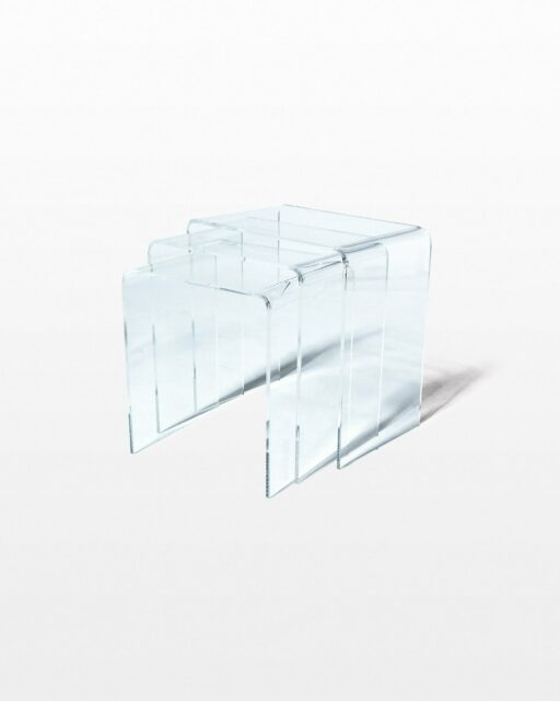 Front view of Coco 3-Piece Acrylic Nesting Side Tables