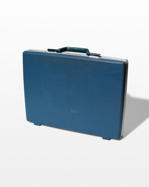 Front view of Shelby Blue Briefcase