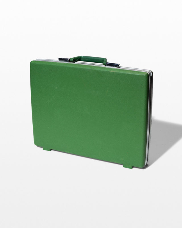 Front view of Teddy Green Briefcase