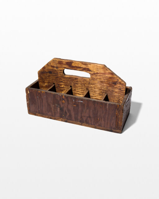 Front view of Dome Divided Wooden Case