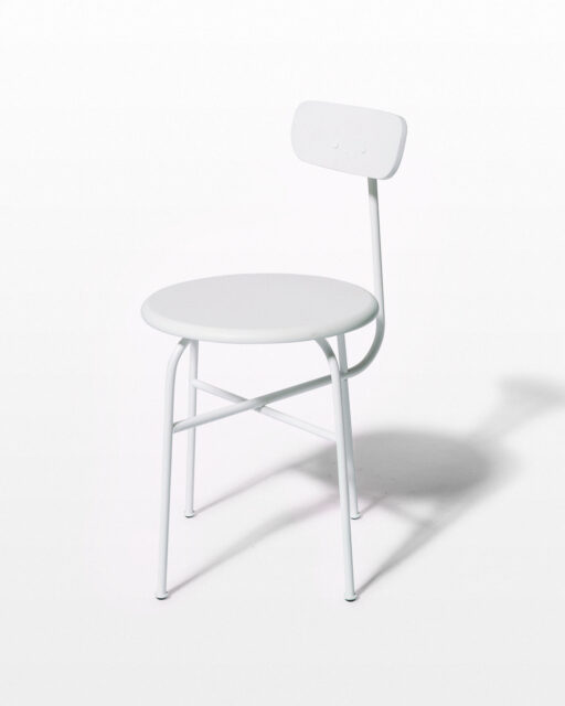 Front view of Bergan White Frame Chair