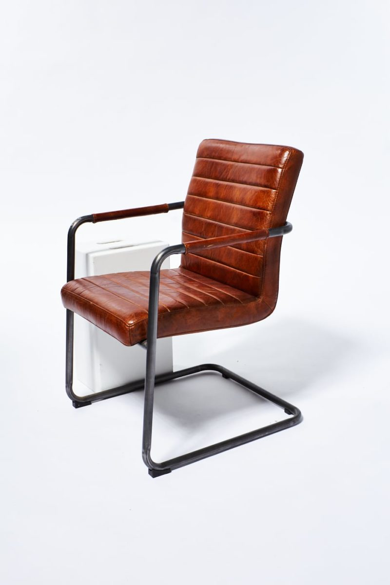 Alternate view 1 of Boro Cantilevered Leather Chair