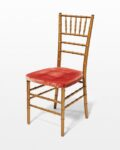Front view thumbnail of Adriana Gold and Pink Chiavari Chair