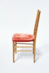 Alternate view thumbnail 1 of Adriana Gold and Pink Chiavari Chair