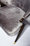 Alternate view thumbnail 4 of Clive Silver Velvet Chair