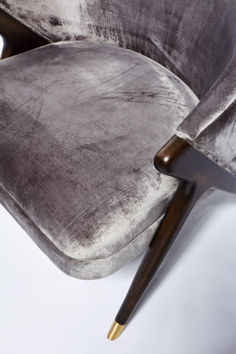 Alternate view 4 of Clive Silver Velvet Chair