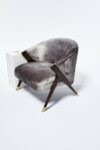 Alternate view thumbnail 3 of Clive Silver Velvet Chair