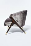 Alternate view thumbnail 1 of Clive Silver Velvet Chair