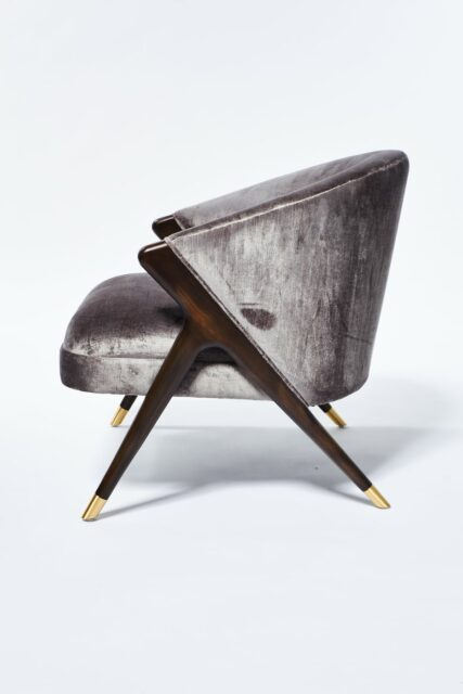 Alternate view 1 of Clive Silver Velvet Chair
