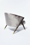 Alternate view thumbnail 2 of Clive Silver Velvet Chair