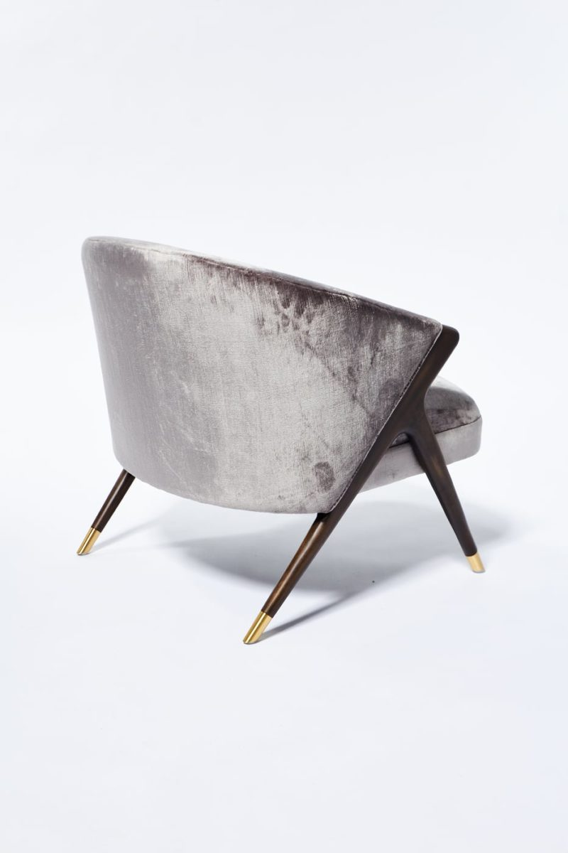 Alternate view 2 of Clive Silver Velvet Chair