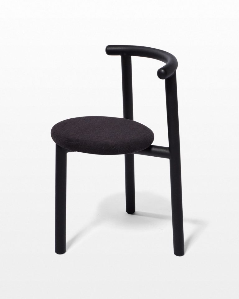 Front view of Steel And Coal Tripod Chair