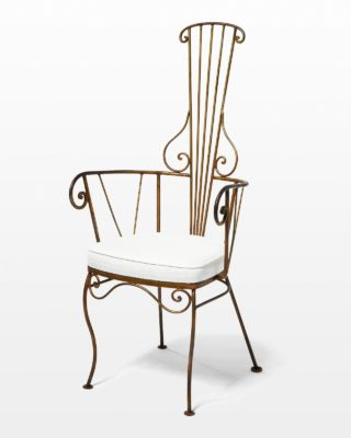 Front view of Miriam Curl Chair