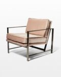 Front view thumbnail of Blair Rose Chair with Silver Frame