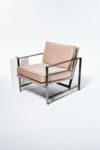 Alternate view thumbnail 3 of Blair Rose Chair with Silver Frame