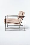 Alternate view thumbnail 1 of Blair Rose Chair with Silver Frame