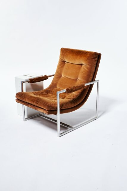 Alternate view 3 of Decker Camel Velvet Lounge Chair