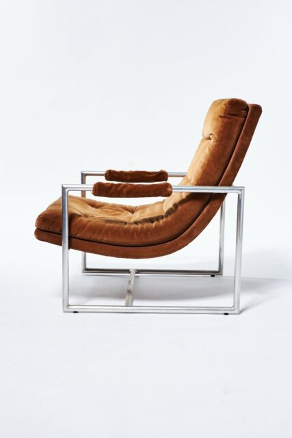 Alternate view 1 of Decker Camel Velvet Lounge Chair