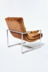 Alternate view thumbnail 2 of Decker Camel Velvet Lounge Chair
