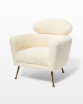 Front view thumbnail of Cora Shearling Armchair