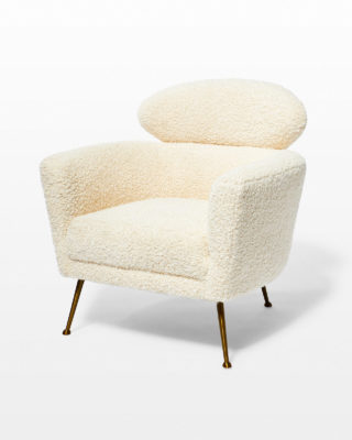Front view of Cora Shearling Armchair