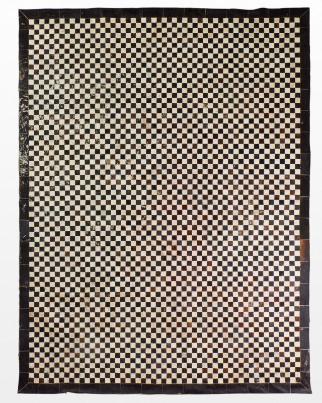 Front view of Tannery Checker Hide 9' x 12' Rug
