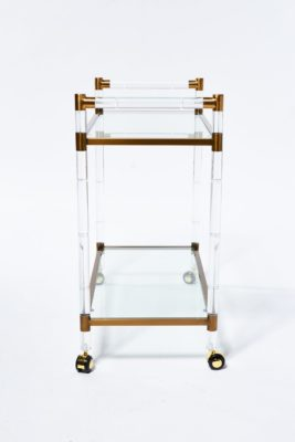 Alternate view 1 of Gordon Acrylic and Glass Bar Cart