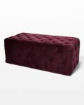 Front view thumbnail of Petal Plum Purple Ottoman