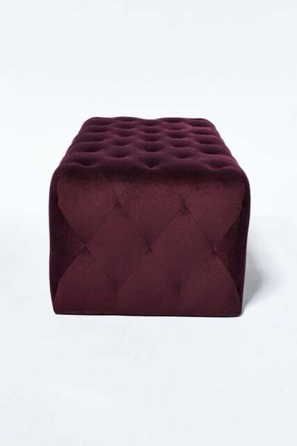 Alternate view 1 of Petal Plum Purple Ottoman