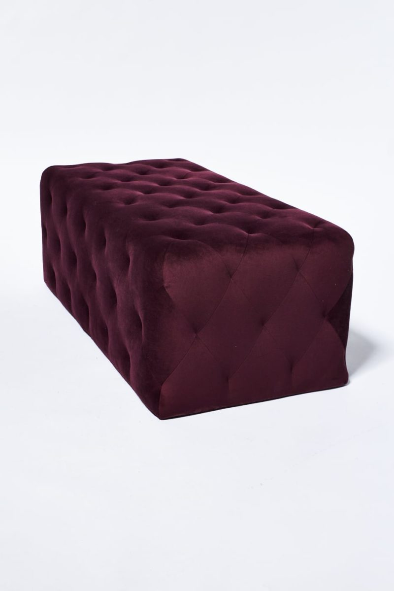 Alternate view 2 of Petal Plum Purple Ottoman