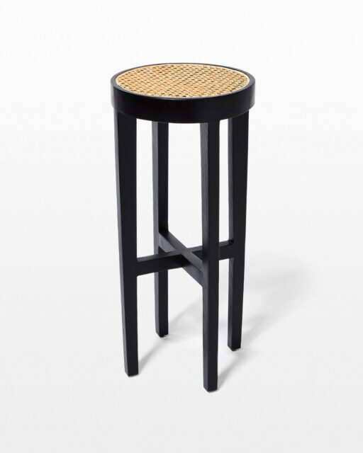 Front view of Powell Caned Stool