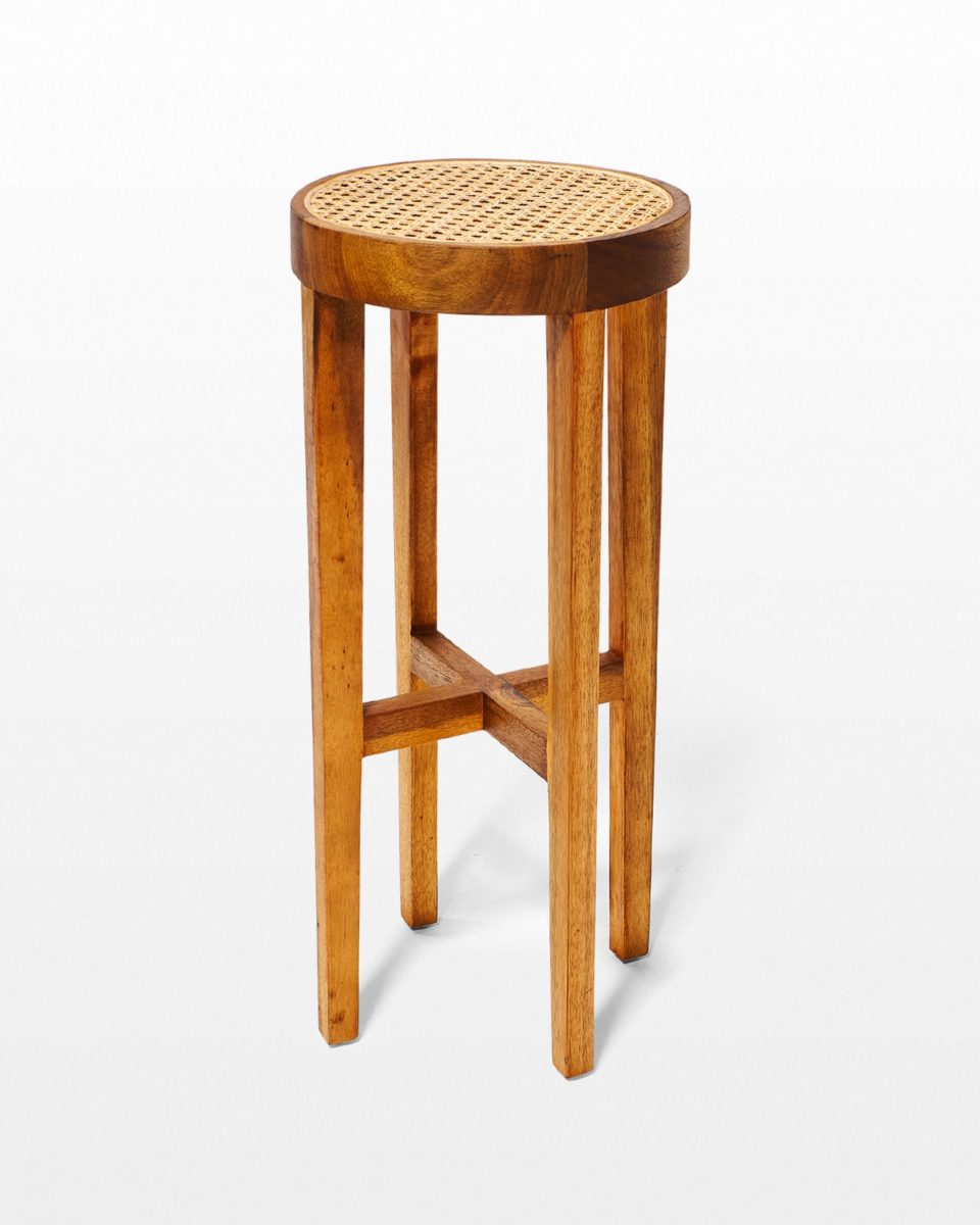 Front view of Dorado Caned Stool